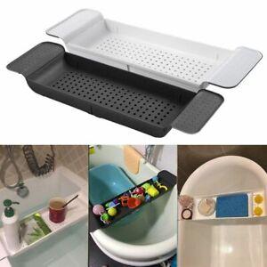 Extendable Bath Caddy Bathtub Rack Shelf Tray Bathroom Book/Pad/Phone/Toy Holder