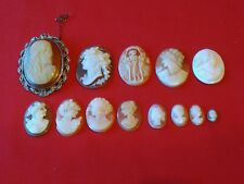 JOB LOT OF VINTAGE OR ANTIQUE CAMEOS CAMEO BROOCH FOR JEWELLERY CRAFT