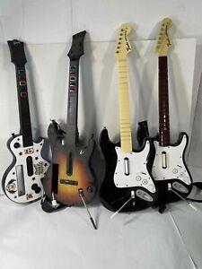 Lot of 4 Guitar Hero Guitars for Wii / Universal
