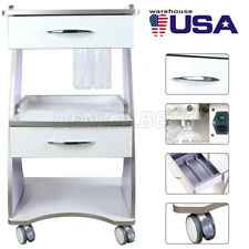 Mobile Built In Socket Tool Instrument Cart With Auto Water Bottle Supply Azdent
