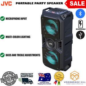 JVC XS-N3119BA Portable Bluetooth Light Up Party Speaker System USB microSD Aux
