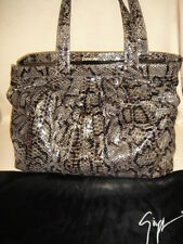 GIUSEPPE ZANOTTI  Python Black Khaki & Grey XL HANDBAG Retail $1595 WOW !!! SALE