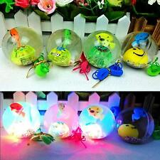 Soft Rubber LED Jumping Ball Bouncy Bouncing Light Balls Kids Toy Party Gifts SP