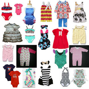 NEW Baby Girls Spring Outfit Clothes Lot 0-6 0-3 3-6 M Boutique Wholesale