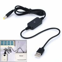 USB DC 5V to DC 9V 12V Converter Step up Power Module Cord Wire Male Plug Cable