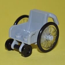 LEGO CITY - 1X WHEELCHAIR FOR HANDICAPPED/DISABLED/INJURED MINIFIGURE/LIGHT GREY