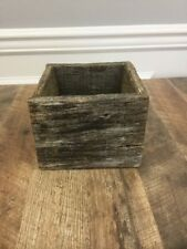 Reclaimed Wood Pallet Box Square Storage Vintage Rustic Look Reclaimed Barn Wood