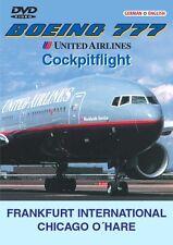 "United Airlines - Boeing 777 - "" Cockpitflight "" - Frankfurt - Chicago O'Hare"