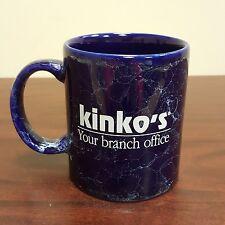 Kinko's Your Branch Office Corporate Blue Coffee Mug Marbel Pattern