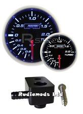 Ford Fiesta st180 52mm Azul / Blanco Boost Gauge bar y de montaje adaptador