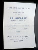 Programme concert Messie Schola N.-D. de Malakoff Notre-Dame des Champs 2/3/50