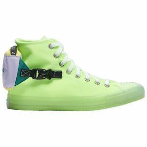 Converse Men's CTAS Buckle Up Hi Top Sneaker 169030C Ghost Green/ Violet