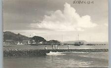 Sibolga RPPC Sumatra INDONESIA Vintage Photo Siboga—Breakwater Pier ~1950s