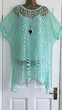 NEW ITALIAN LAGENLOOK 2 PIECE ABSTRACT TUNIC TOP MINT FIT 16 18 20 22 C400