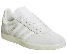 hot sale online 16fb7 682e2 Da Uomo Adidas Bianco Scarpe Da Ginnastica Stringati In Pelle Scamosciata  Misura UK 10   EX