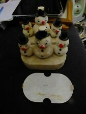 VINTAGE JAPANESE BATTERY OPERATED  SNOWMAN TOY