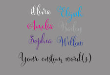 Fancy Script Custom Name Wall Door Sticker Personalized Removable Decal 15~160cm