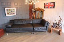 Habitat scala black leather sofas suite sectional new £3500