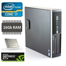 Intel i7 Gaming PC 16GB Ram 240GB SSD 4GB NVIDIA Graphics GTX 1050TI Win 10 Wifi