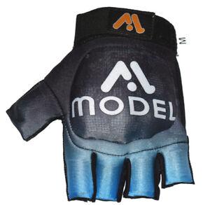 Model Field Hockey Glove Left Handed Palm Free Hard Shell Protection Black Blue