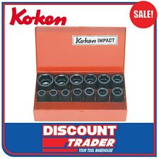 "Koken Impact Socket Set 1/2"" Square Drive 3/8-1.1/8"" Imperial 12 Piece - 14241A"