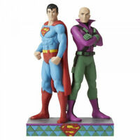 DC Jim Shore Superman & Lex Luther Figure Man Of Steel Figurine 6005981 - NEW