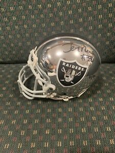 JERRY RICE Oakland Raiders Signed Chrome Mini Helmet Upper Deck UDA COA HOF 49er