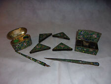 Cloisonne 9 Piece Desk Set