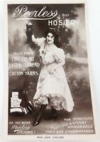 ".RARE EARLY 1900s ""PEERLESS HOSIERY, AUSTRALIAN WOOL"" REAL PHOTO POSTCARD. #1"