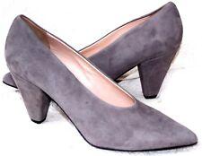 $285 NIB CLAUDIA CIUTI  Evita Sail Gray Suede Leather Shoers Pumps Heels 5.5