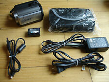 Sony HDR - XR100 80GB HD Camcorder Sony Bag Cables Battery Bundle