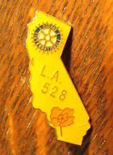 Rotary International Lapel Pin - Los Angeles California 528 USA Club Rose Badge