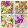 Absorbent Stone Coasters-Set of 4-Flip Flops Highland Graphics #229