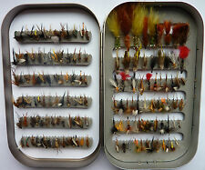 lot 150 mouches peche truite flies fly mosca fishing trout hooks fishing fliegen