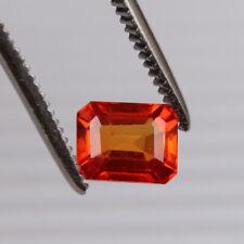 Natural Padparadscha Orange Sapphire 3.15 Ct Octagon Loose Certified Gemstone