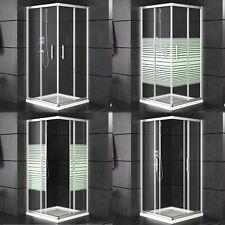 Duschkabine Classic Dusche Eckdusche Eckeinstieg Schiebetüren ohne Tasse