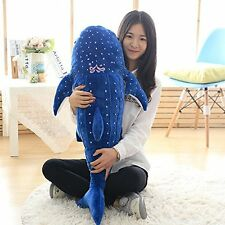 Big Whale Shark Hot 39'' Stuffed Animal Plush Toy Soft Doll Pillow Birthday Gift