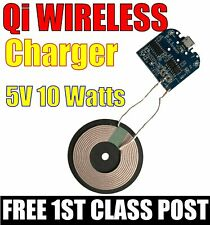 QI Single Coil 5V 10W Wireless Charger Transmitter Module.  FREE 1ST CLASS POST
