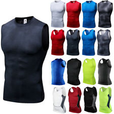Men Sport Compression Base Layer Sleeveless Tank Top Running Athletic Vest Shirt