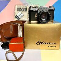 Stunning Edixa Mat Flex A, 35mm SLR Camera Kit! Tested! Lomo Vintage Working