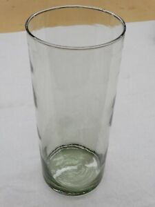 """Older 14 1/2"""" Tall Clear Glass Cylindrical  6"""" Diameter Vase / Centerpiece"""