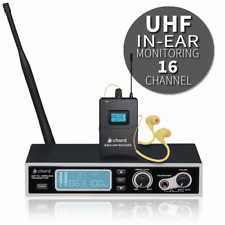 More details for iem16 uhf in ear wireless monitoring system 16 channel pll wt 19 inch rack mount