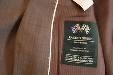 """Mens """"Racing Green"""" Taupe Travel Suit 42L / 34L 80% wool"""
