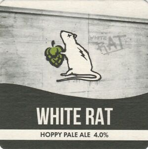 BEER MAT - OSSETT BREWERY - WHITE RAT PALE ALE - (Cat No 065) - (2021)