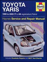 ECHO TOYOTA SHOP MANUAL SERVICE REPAIR BOOK HAYNES 2000 2005 2004 2003 2002 2001