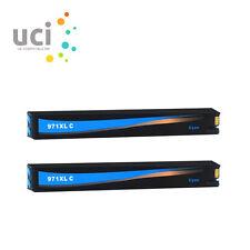 2 Cyan Ink Cartridge for HP 970XL 971XL Officejet Pro X451dw X551dw X576dw