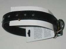 "4 Lot Dog Collars Black 19"" x 1"" Adjustable Buckle 5 Holes / See My Other Items"