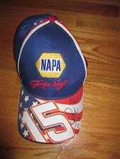 MICHAEL WALTRIP No. 15 NAPA RACING signed No. 15 (Adjustable) Cap COA