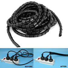 6M Flexible Cable Ordenador PC TV Alambre Envoltura en Espiral Wrap Organizador