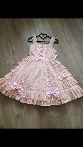 Lolita Kleid rose rosa Cosplay sweet süß Schleifen hochwertig